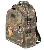 Тактический армейский крепкий рюкзак 30л мультикам. Армия, рыбалка, туризм, охота, спорт