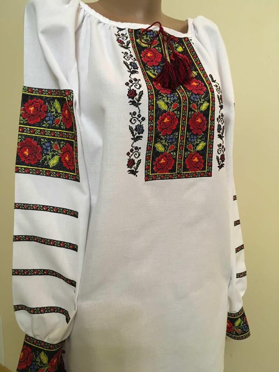 Вишита сорочка жіноча Борщівська домоткане полотно 50 розмір ... 89200f9a108e1