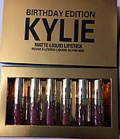 Жидкая матовая помада Kylie Birthday Edition, не смывающаяся (аналог)