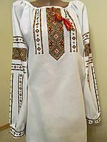 Вишита сорочка жіноча домоткане полотно 52 розмір, фото 1