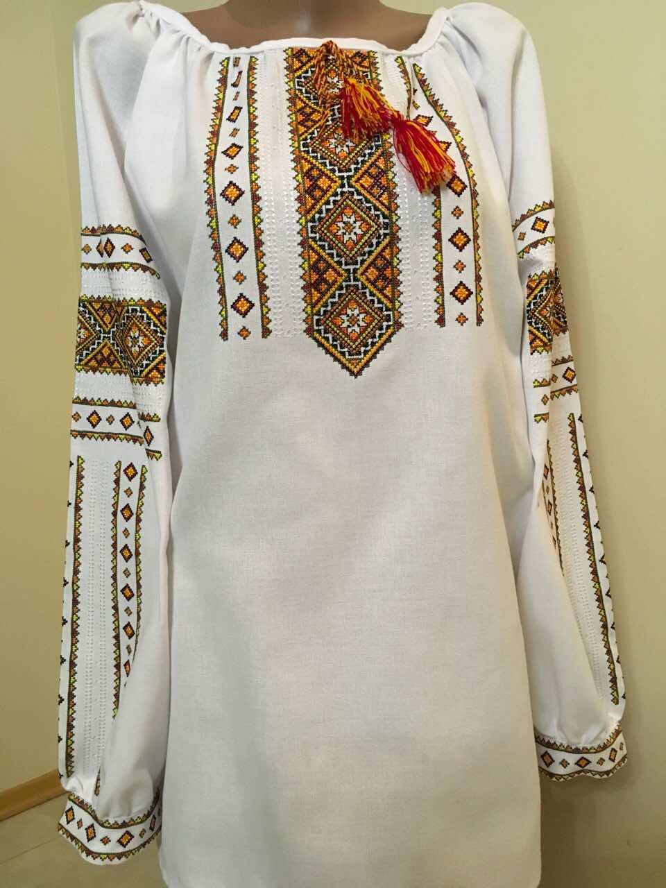 Вишита сорочка жіноча домоткане полотно 52 розмір  продажа 9b6a47010d11a