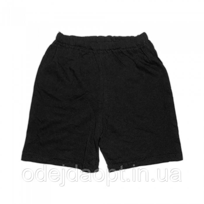Детские  черные шорты хлопок