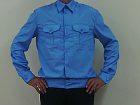Рубашка форменная голубая. Униформа.
