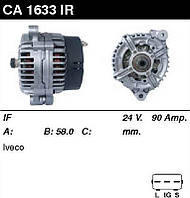 CA1633IR R Генератор восст. /90A/ 24V Iveco грузовик 1993-