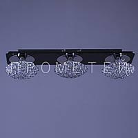 Хрустальная люстра на 3 лампочки припотолочная  P3-4601MC/3/CR+WT  Патрон G9