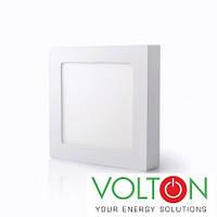 Потолочный светильник LED 12W SS 6400K накладной, фото 1