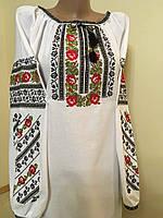 Вишиванка жіноча домоткане полотно машинна вишивка