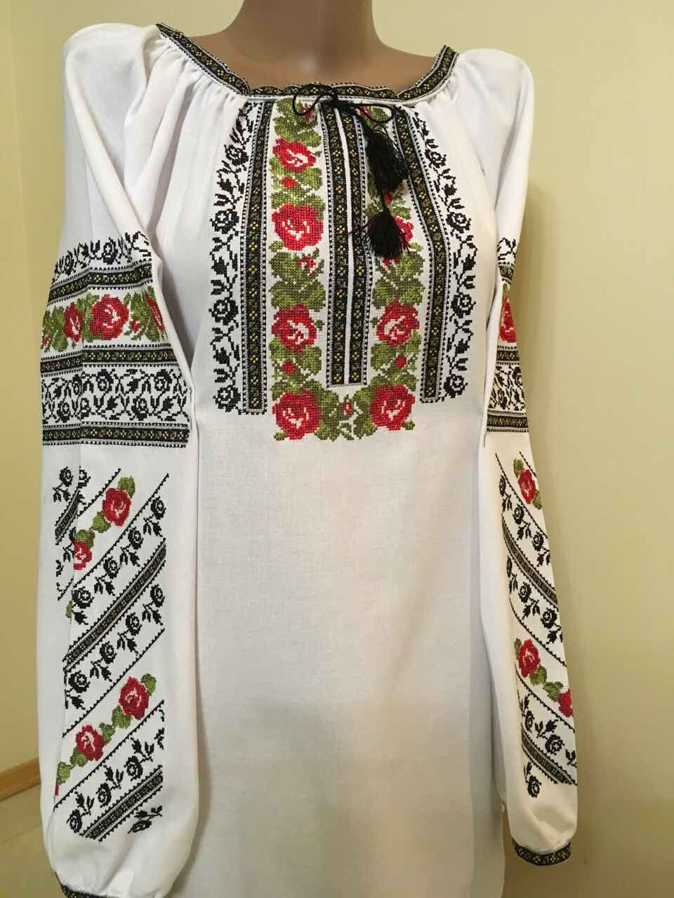 a644fec9f19d4e Вишиванка жіноча домоткане полотно машинна вишивка 52 розмір 3ХL -  Скарбниця Карпат- інтернет магазин виробів