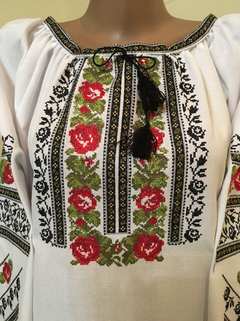 Вишиванка жіноча домоткане полотно машинна вишивка 52 розмір 3ХL ... 2509a1d8112ab