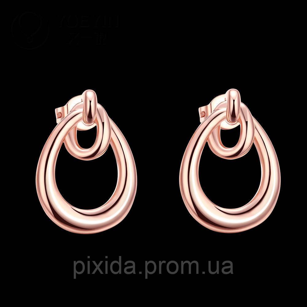 Сережки-гвоздики  Элегантность покрытие 18К золото