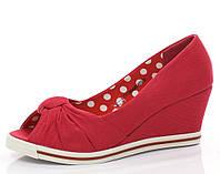 Женские туфли на танкетке с  открытым носком Размеры 37-41