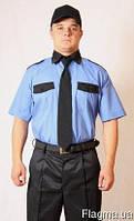 Рубашка форменная с коротким рукавам, голубая. Униформа.