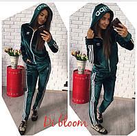 Костюм adidas из бархата повседневный женский Fslip27