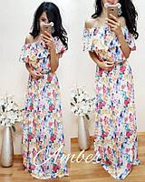 Яркое шифоновое длинное платье t-t8032641