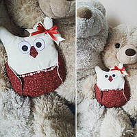 Handmade Ручная работа сова декоративная подушка, игрушка красная