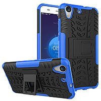 Чехол Huawei Y6 2 / Y6 II / Honor 5A противоударный бампер синий