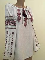 Вишиванка жіноча сірий льон ручна робота, фото 1