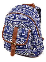 Стильный рюкзак синий с орнаментом