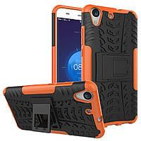 Чехол Huawei Y6 2 / Y6 II / Honor 5A противоударный бампер оранжевый