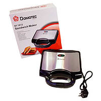 Гриль бутербродница тостер Domotec DT-1012: металл + пластик, антипригарное покрытие