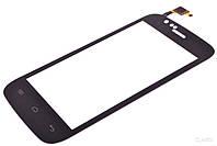 #4 Тачскрин сенсор Explay A400, черный, ORIG