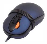 Мышь A4Tech X5-6AK-1 2xClick USBmini mouse/ Blue, 800dpi dual focus