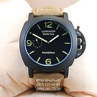 Мужские механические Часы Panerai Officine Black/Black-green с автоподзаводом
