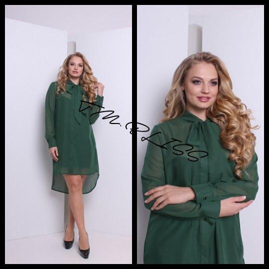 ПЛАТЬЕ ИЗ ШИФОНА (платье+рубашка)