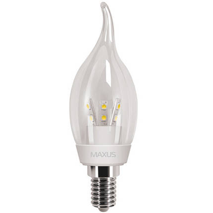 Лампа MAXUS C37 CT-С 3W 4100K 220V E14 CR, фото 2