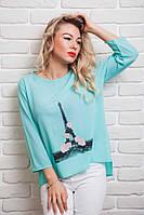Легкая женская шифоновая блуза прямого фасона 42,44,46