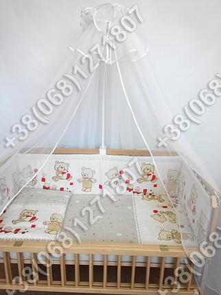 """Детское постельное белье в кроватку """"Карапуз"""" комплект 5 ед. (мишка игрушки бежевый), фото 2"""