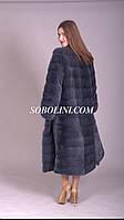 Шикарная шуба из меха скандинавской норки  SAGA FURS superior, длина 120см
