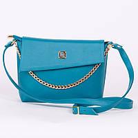 Яркая голубая женская сумка - модель 2017 art. 1367blue