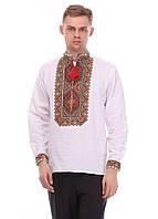 """Мужская сорочка вышиванка """"7цветов"""" лён 38"""
