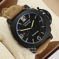 Мужские механические часы Panerai Officine Black\Black-yelloy с автоподзаводом