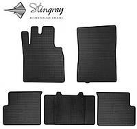 Резиновые коврики Stingray Стингрей Mercedes-Benz W463 G 1990- Комплект из 5-и ковриков Черный в салон. Доставка по всей Украине. Оплата при получении