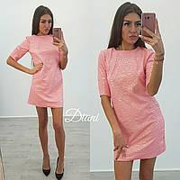 Нарядное платье с коротким рукавом (несколько расцветок) d-t14032649