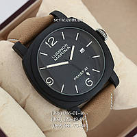 Мужские кварцевые часы Panerai Officine Quartz Black\Black\milk