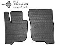 Stingray Модельные автоковрики в салон Мицубиси Паджеро Спорт 2015- Комплект из 2-х ковриков (Черный)