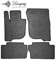 Коврики резиновые в салон Мицубиси Паджеро Спорт 2015- Комплект из 4-х ковриков Черный в салон