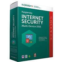 Антивирусная программа Kaspersky Internet Security 2016 Box для 2+1 ПК, на 1 год