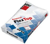 Baumit FlexTop ( эластичная клеящая смесь для приклеивания всех видов плиток, которые поддаются высоким  25кг)