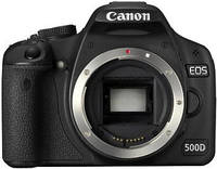 Зеркальный фотоаппарат Canon EOS 500D Black / Body / LCD 3' / Full HD / SD / SDHC / Li-Ion /  12 мес