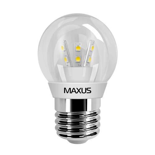 Лампа MAXUS G45 3W 3000K 220V E27 CR