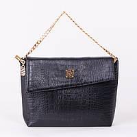Отличная женская сумка-клатч черного цвета art. 1367k