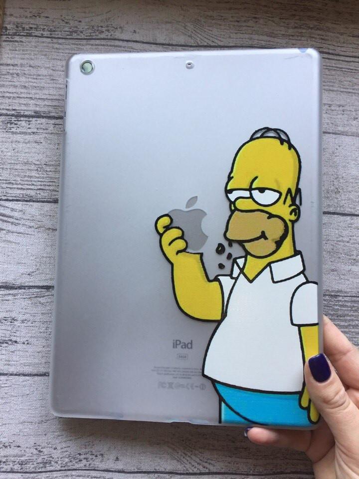 Пластиковый чехол с Гомером Симпсоном для iPad Air