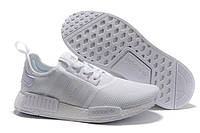 Кроссовки мужские Adidas NMD R1 Mesh Monochrome Pack 'Triple White'. обувь интернет, адидас НМД