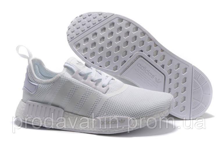 4ee9f54c39ae Кроссовки мужские Adidas NMD R1 Mesh Monochrome Pack  Triple White . обувь  интернет,
