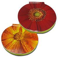 Cтикеры с клейкой полосой типа Post-it размером 62х62 мм, 50 листов «Цветы», фото 1
