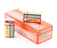 Крона Toshiba, 6F22, 1 шт, солевая, 9V, Shrink (6F22KGG SP-1UJ)
